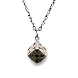 S925 sterling silver Lucky Dice pendant Retro Necklaces new fashion anti allerg Punk serie for men or women