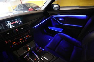 Interiorexternal Lights 1 2 3 4 5 6 7 시리즈 자동차 네온 실내 도어 주변 조명 장식 조명 9 색 자동 구조