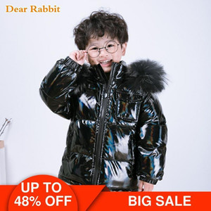 winter 90% down jacket parka real fur boys coat children's clothing snow wear kids outerwear toddler baby girl clothes snowsuit