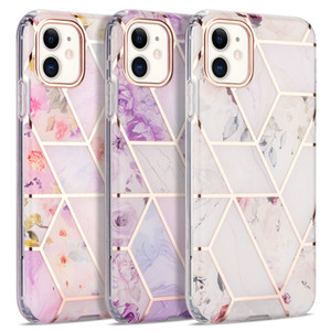 New Geometric Electroplated Marble Phone Case For iPhone 12 Pro Max 11 XR XS 7 8 Plus