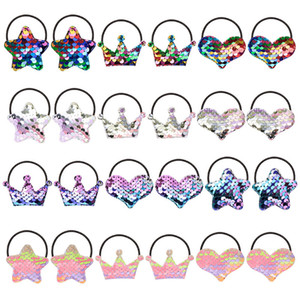 Sequins Gradients Hairbands Crown Stars Love Coiling New Baby Rainbow Princess Girls Hair Ring Accessories 2 4mq K2