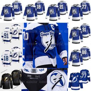 Tampa Bay Lightning 2021 Retro Retro Victor Hedman Nikita Kucherov Steven Stamkos Anthony Cirelli Brayden Point McDonagh Johnson Jersey