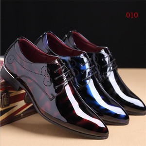 wedding dress shoes Homecoming men black Snakeskin grain designer men business shoes Smoking Slipper US size : 6-10 536