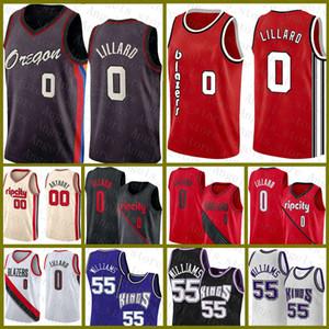 Damian Jason 55 Williams 0 Lillard Carmelo 00 Anthony PortlandWegBlazer Sacramento.Kings.Neues Basketball-Jersey rot