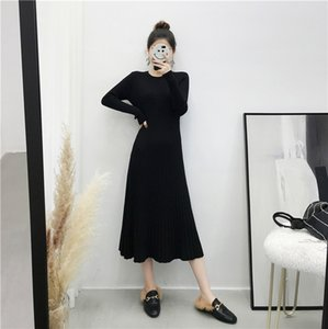 WHCW CGDSR Frau dicker Herbst Polastover warm casual 2020 neue solide pullover dress frauen koreanische stil winter jumper kleider