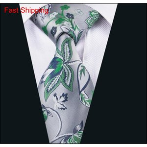 China Laços de seda Homens Silva e Green Beautiful Gravatas Handkerchief Cufflinks ajustados para Casu Qylbbb Casas2007