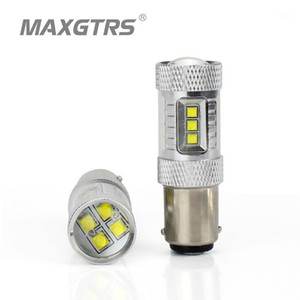 2x S25 1157 BA15D DRL 30W 50W 80W LED CREE Chip Car Auto Rear Tail Stop Lights LED Parking Lamp Bulb White Red Yellow1