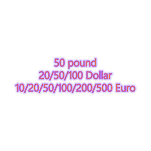 Wholesale Faux bills dollar 20 50 100 Fake billet 10 20 50 100 200 500 euro 50 pound bar money prop 100pcs pack 02