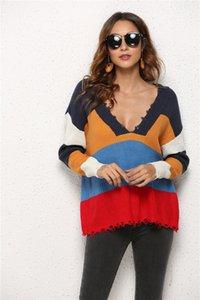 Sweaters de designer Femmes Femmes Mode Mulit Couleurs Chaussures V Cou Cou Sweaters Casual Femmes Automne Hiver Vêtements