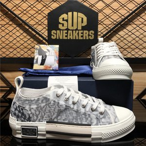 En Kaliteli B 23 Eğik Teknoloji Tuval Eğitmenler Sneakers Luxurys Tasarımcılar Ayakkabı Erkekler Kadınlar Moda Çiftleri Açık Platformu Rahat Ayakkabılar