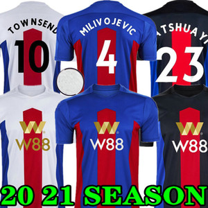 Crystal Palace 20 21 Milivojevic Mens Soccer Trackss Новый Townsend Zaha Sakho Benteke Bentshuayi Home Красный синий футбол футболки дворца короткая форма