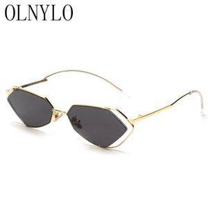 Yeni Yarı Çerçevesiz Çerçeve Siyah Degrade Lens Kadın Güneş Gözlüğü Seksi Yeşil Gril Güneş Gözlükleri Açık Sürücüler Gözlük UV400