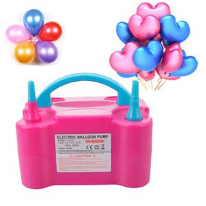 EU estoque 110V 600w balão elétrico Bomba de ventilador portátil bocal dual rosa vermelho Balão de balão de balão de balão