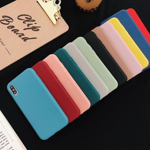 Sile Solid Color Phone Case For Samsung Galaxy A8 A5 2018 2017 2016 2015 Soft Cover Candy Color Samsung A6 Plus Q sqcBMS