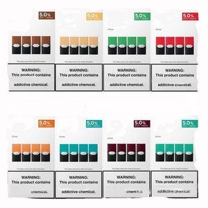 Großhandel Mango coole Mint-Pods kompatibel kompatibel für Jull vorgefüllte Kartuschen Vape-Pen-Gerät geliefert mit logo 8 Farben DHL Freies Shiping