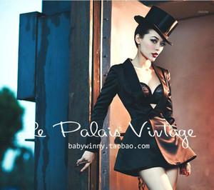 Le Palais vintage elegante elegante espectáculo fino seda cintura falda traje chaqueta fumando traje 1