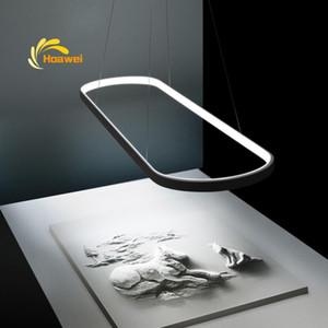 Nordic LED-Kronleuchter Beleuchtung Runway Aureole Pendelleuchte Esszimmer Küche Suspension Leuchten Fernbedienung Hängelampe