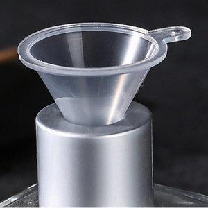 Transparentes portátiles Mini Funnels Pequeño plástico Botella de cuello de botella Embalaje Herramienta auxiliar Barra de cocina Accesorio de comedor HWD3067