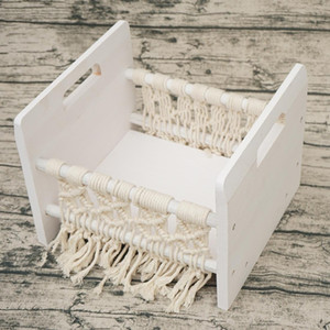 Full Moon Newborn Photography Props Hundred Sunshine Woven Solid Wood Crib