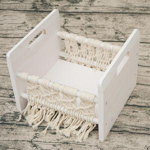 Full Moon Newborn Photography Props Hundred Sunshine Woven Solid Wood Crib