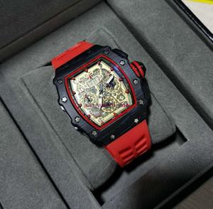 2021 Мужские роскошные часы RM Бренд Мода Личности Баррель Форма Скелет Часы Кварц-секундомер Монтерей Hommes Relogio Feminino Montr