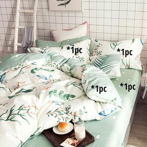Egyptian Cotton Bedding Sets 4 in 1 (flat Bedsheet Pillowcase Duvet Cover) Printed Linens Sheet Pillowcase Duvet Cover