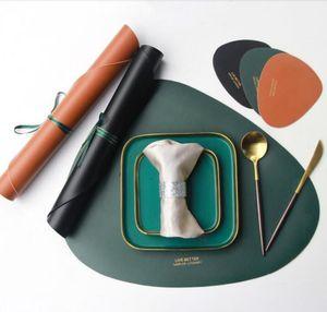 Tableware esteira ocidental alimentos esteira isolamento térmico antiderrapante placemat simples placemat placemat tabela decorável mesa de mesa pad DHB3966