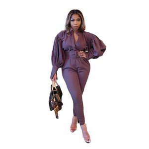 Puff Sleeve Designer Plus Size Trainingsanzüge Mode Siold Color Womens Two Piece Hosen Crew Neck Kleidung