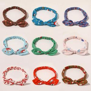 10 Styles Women ears Headbands Christmas Hairbands Santa Claus Snowman Print Head Bands xmas Girls Hair Accessories