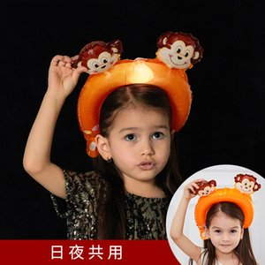 Noctilucent Saç Bandı Balonlar Yetişkin Çocuk Kafa Balon LED Taşınabilir Güzel Kafa Hoop Sıcak Satış ile Çeşitli Stil 0 93HG J1
