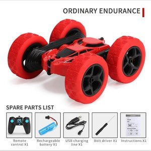 2.4G tumbling and twisting rotation twisting double-sided deformation stunt car charging drop-resistant lights children remote control car