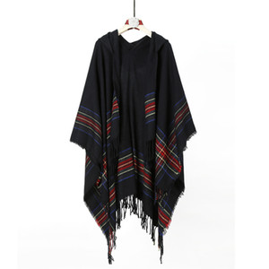 2020 New Arrival Folk-custom Womens Shawl Ladies Shawl With Hood Thicken Keep Warm Scarf Hooded Shawl 20121404XL