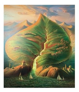 A.2 Framed &Unframed Vladimir Kush Ocean Sprouts High Quality Handpainted Famous Abstract Wall Art Oil Painting On Canvas Multi Sizes Ab189
