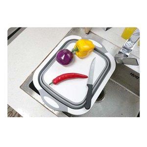 Cucina tagliere Blocco Tagliere pieghevole con colangers Cucina Taglieri Tagliere Lavaggio Canestro Drain Kitchen O SQCYTG