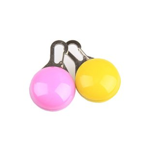 Pet Dog Illuminated Collar Waterproof Safety LED Light Pendant Bell Dog Cat Night Walking Lights Dog Pendants Bell Flashing Led