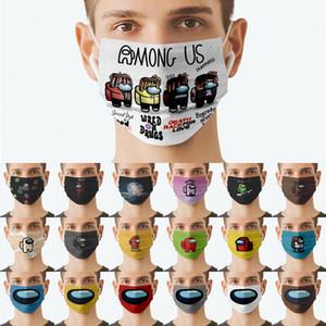 Parmi les Jeux d'US Jeux Imprimer Party Masques Digital Dessin animé Cosplay Anime Adultes Hommes Femmes Femmes Masque anti-poussière Vaillible respirante à coupe-vent