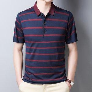YMWMHU Brand New Men Manica Sale Slip Slim Fit Luxury Button Casual Polo Shirt da uomo