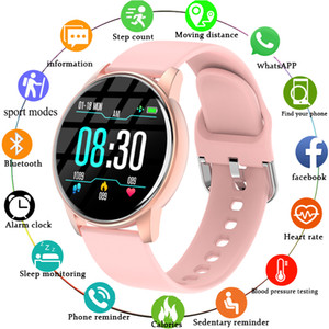 2020 New Women Smart Watch Real-time Weather Forecast Activity Tracker Heart Rate Monitor Sports Men Smart Watch For Android IOS