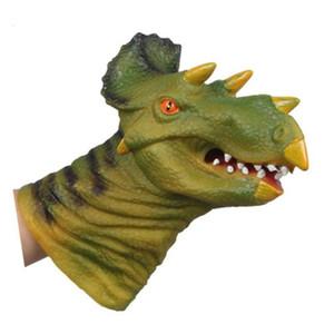 High Quality Soft Vinyl PVC Animal Head Figure Dinosaur Tiger Lion Cow & Dog Hand Puppet Gloves Children Toy Model GiftL55