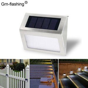 Solar Wall lamp outdoor Waterproof 3 Leds Portable Garden Lights Alloy Material With Light Sense Control Interior Porch Light