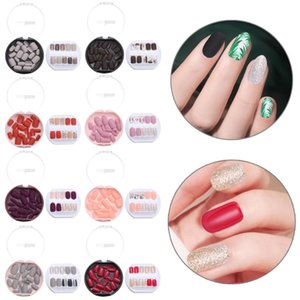 30Pcs Set Long Coffin False Nails with Design Fashion Rainbow Ballerina Press on Nail Art Tips Colorful Beauty Artificial Nails