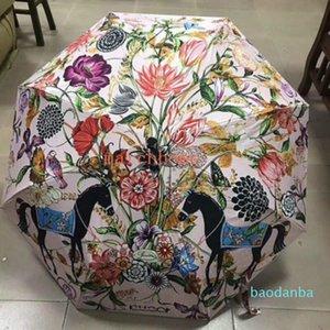 هدية مربع عالية الجودة التلقائي الكامل مظلة الشمس والدليل على الأشعة فوق البنفسجية مظلات المرأة الأزياء زهرة نمط البارسول 2021