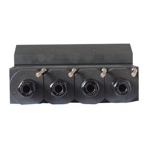 Housing integrated shaft gear power head Brass material Gear drive Coupling connection Center height 36MM ER20-4Z-60