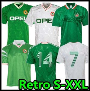 1990 1992 Ireland Retro Soccer Jersey Jersey Ireland Classic Jersey 90 92 Vintage Irish Sheedy 1994 Camicie da calcio 1998