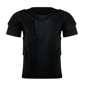 Football Goalkeeper Padded Jersey Shirt Soccer Goalie Pad Shirts Body Protector