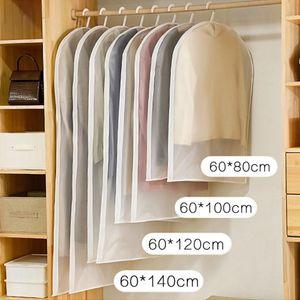 1 unid cubierta de polvo de la ropa de la ropa de la ropa de la ropa de la ropa de la ropa de la cubierta del vestido de la capa de la ropa de la capa de la humedad bolsas de almacenamiento a prueba de humedad Protector abierto
