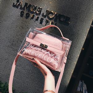 Mujeres Pequeñas Bolsa 2021 New Fashion Transparente Niño Madre Bolsas Versión Coreana Mensajero Bolso Hombro Simple Bolsos de verano al por mayor