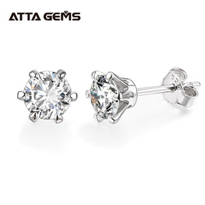 New Arrival 0.5 Carat Moissanite Gemstone Stud Earrings for Women Solid 925 Sterling Silver D color Solitaire Fine Jewelry J1202