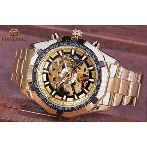 2020 relógio esporte para forsining homens homens top relógio assistir creative esqueleto transparente relógios mecânicos mrglk dourado