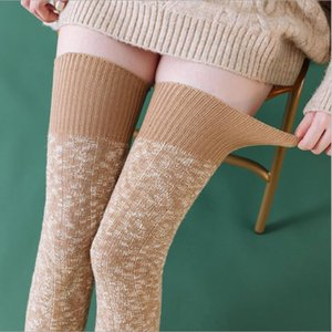 Women Boot Topper Skinny Long Knee Sock Winter Warm Sexy Knitted Stockings Thick Long Boot Stocking Sport Designer Cotton Stockings PPC3363